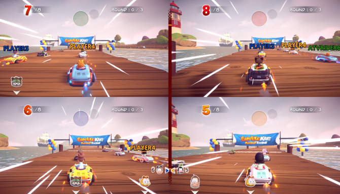 Garfield Kart Furious Racing for free