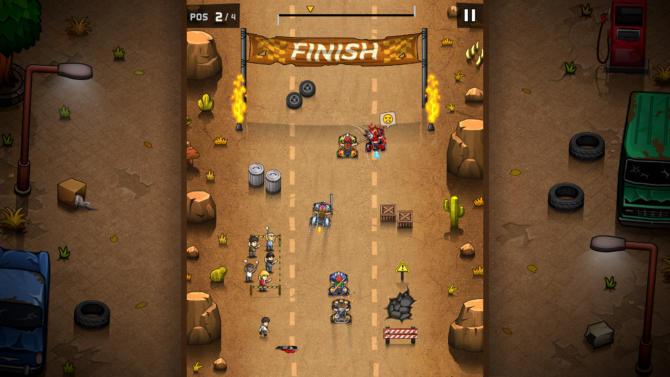 Rude Racers 2D Combat Racing free download