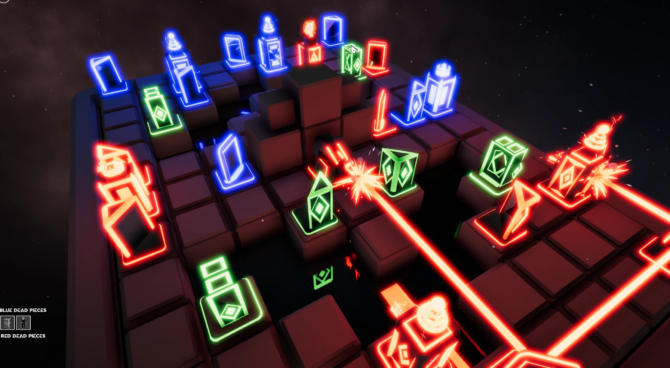 LASER CHESS Deflection free cracked